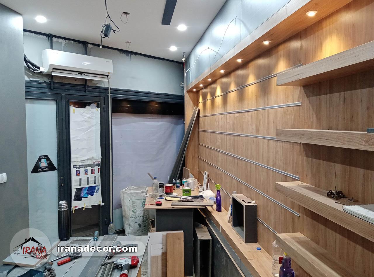 دکور مغازه موبایل فروشی در شیراز